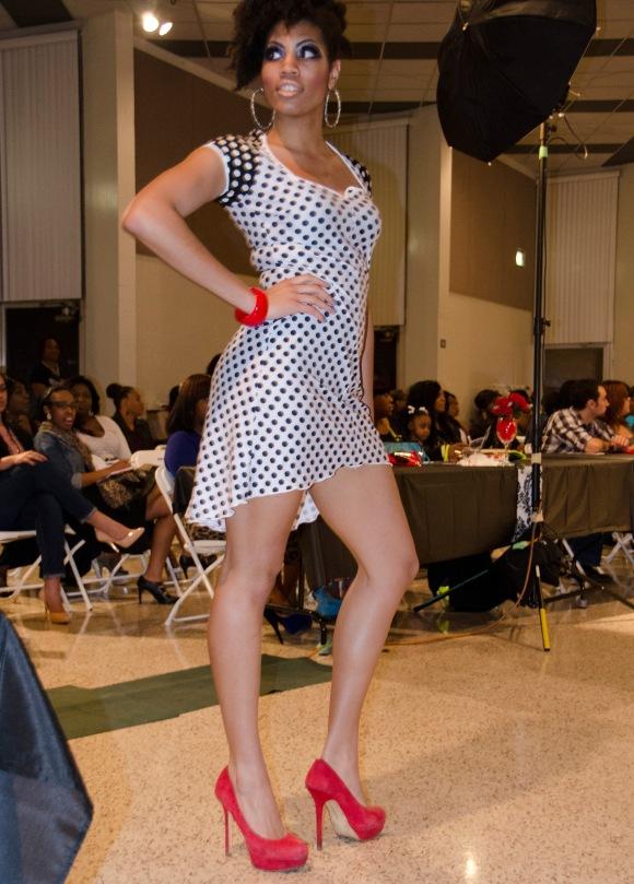 B&W Polka Dress