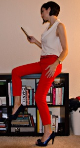 Red Pants, blue shoes, ultimate fashion experience