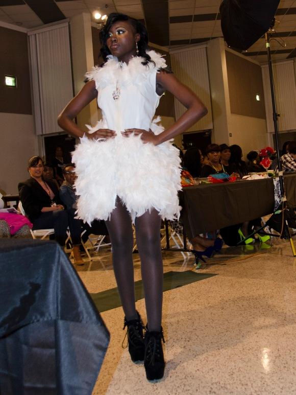 White Feather Dress