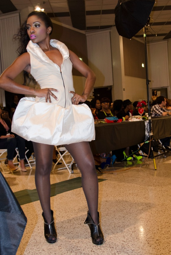 White Pouf Dress
